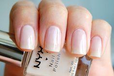 NYX Girls - Nude Toffee #nailpolish Clear Nail Designs, Popular Nail Designs, Nail Polish Designs, Cool Nail Designs, Clear Nail Polish, Pink Nail Polish, Clear Nails, Beautiful Nail Art, Nail Inspo