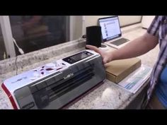 Getting brother Scan n Cut to cut single lines instead of cutting around the lines - YouTube