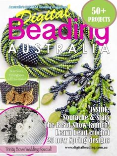 On-line beading mag. Free Beading Tutorials, Beading Patterns, Magazine Beads, Beading Techniques, Art And Craft, Spring Design, Bead Crochet, Book Crafts, Pattern Books