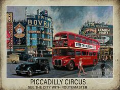 Heavy Aluminium Metal Sign Rounded Corners Punched Holes Ready To Hang Made In The Uk Free Standard UK Postage On Orders Over Routemaster, Piccadilly Circus, Bus Coach, London Bus, London Transport, Vintage Branding, Aluminum Metal, Vintage Travel Posters, Vintage Holiday
