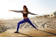 Chiara Ferragni Nike training Malibu Yoga 1
