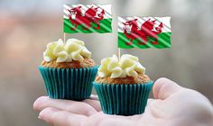 Printable Welsh Flag Cupcake Toppers-PRINT161JPW-personalized flag topper-downloadable printable cupcake-instant topper-digital clip art by SouthernBellesCustom on Etsy