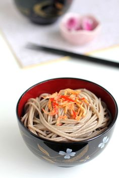 The Little Teochew: Singapore Home Cooking: Soba In Shallot & Chilli Oil