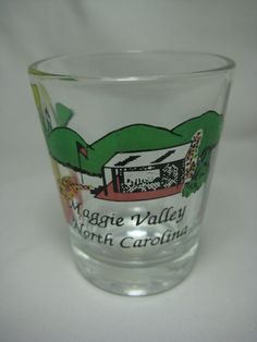 "Maggie Valley North Carolina 2"" Rum Shot Glass Collectible Souvenir Used"