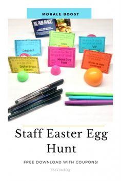 Easter School Staff Morale Booster - Hojo's Teaching Adventures