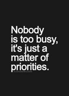 #Priorities in #Life