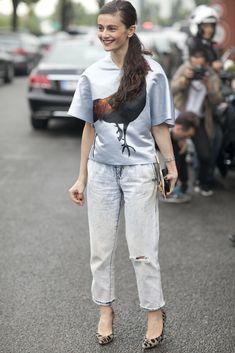 Bonjour, Paris! The Best Street Snaps at Paris Fashion Week. Image Source: IMAXTREE