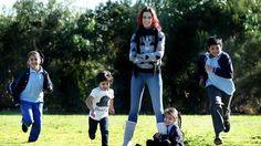Mum Caryn Braude with kids Jazmyn, Charlie, Brandon, Scarlett, Picture: Norm New Books, Psychology, Parents, Mens Sunglasses, Victoria, News, Children, Lashes, Training