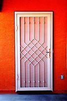 Security screen door. Steel Security Doors, Security Screen, Iron Gate Design, Window Grill Design, Wrought Iron Doors, Cool Doors, Iron Furniture, Front Door Design, Steel Doors