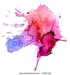 watercolor blot background, raster illustration by Color Symphony, via ShutterStock