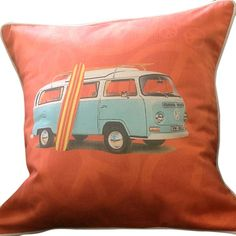 CUSHI | Peace Out Combi Cushion in Orange - living room pillow