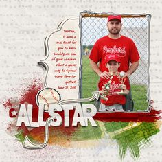 sports digital scrapbook ideas
