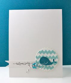 Stampin' Up baby card