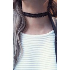 Aluna Mae Iris. Black Crochet Choker Necklace ($18) ❤ liked on Polyvore featuring jewelry, necklaces, accessories, black, crochet jewelry, macrame jewelry, choker necklace, macrame necklace and choker jewelry