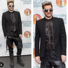 WEBSTA @ adamlambert - #isleofwight fashion credits: jacket: @muglerofficial trousers: @alexandreplokhov shirt: @skingraftdesigns boots: @buffaloboots glasses: @ktz_official