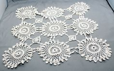 """Vintage Doily Craft Handmade Lace Crochete White 15"""" Square Pinwheel Doily          http://autopartspuller.com/ Great Sale 50% off entire store!! Copper, Glassware, Wood Crafts, Scrap Booking   Also Find us on:  http://hometownvintage.com http://autopartspuller.com @HomeTownVintage @autopartspuller @preppershowto http://facebook.com/hometownvtg http://facebook.com/AutoPartsPuller"""