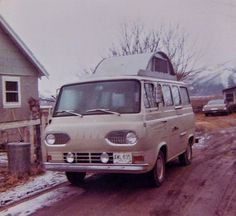 Our Ford Econoline Camper Visiting Beverly for Christmas Smith Valley, NV Dec 1968