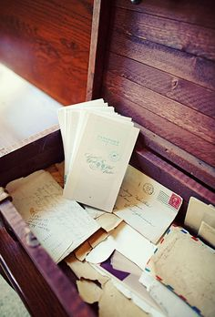 Brides: Passport-Inspired Wedding Program. The programs were designed to resemble passports; all of the stationery was created by the bride, who owns a graphic design studio.