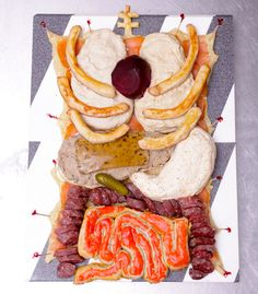 """Because nothing's more appetizing than eating entrails.    //    """"Human Torso Appetizer Plate."""""""