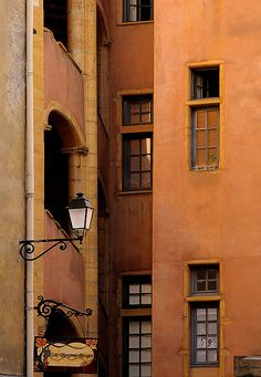 """The streets in Vieux Lyon, France are illuminated with fixtures we call here are at Architectural Accents, the """"Jargeau""""."""