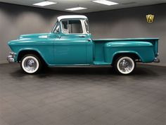 1955 GMC 100 Pickup for sale in Dearborn, Michigan, Teal/White, Teal, Small Block Custom Chevy Trucks, Old Pickup Trucks, Gm Trucks, Dearborn Michigan, Pickups For Sale, Old School Cars, Old Classic Cars, Older Models, Whimsical Fashion