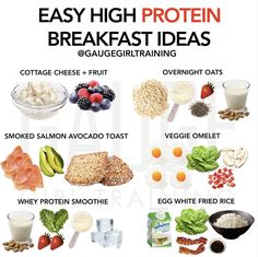 Check out these easy high protein meal ideas! Whey Protein Smoothies, Protein Diets, Natural Whey Protein, Cheese Fruit, Salmon Avocado, High Protein Breakfast, Clean Recipes, Healthy Recipes, Beef Recipes