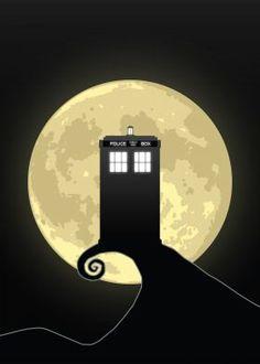 Nightmare Before A Tardis Art Print Desenhos Doctor Who, Doctor Who Poster, Tardis Art, Police Box, Geek Humor, Matt Smith, Blue Box, Poster Prints, Art Prints