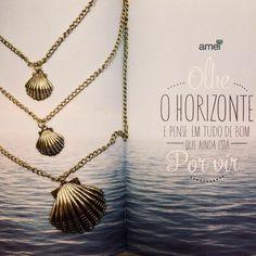 Conchas de ouro  #acessórios #concha #mar #colar #novidades #lojaamei