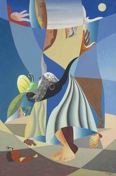 'Tête de taureau ' (1938) by Léopold Survage