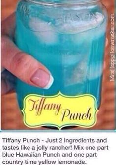 Blue jolly rancher drink! Sounds great for a hot summer afternoon :)