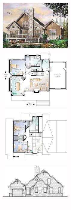 Coastal House Plan 64810 | Total Living Area: 1909 sq. ft., 3 bedrooms and 2.5 bathrooms. #coastalhome