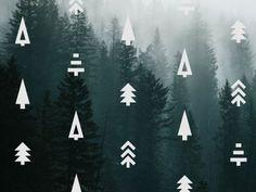 Evergreen tree icons