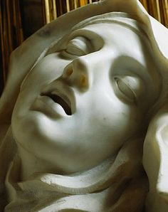 Ecstasy of St. Teresa - Gian Lorenzo Bernini. Teresa of Avila a prominent Spanish mystic, Roman Catholic saint, Carmelite nun, and writer of the Counter Reformation, and theologian of contemplative life through mental prayer. She was a reformer of the Carmelite Order and is considered to be, along with John of the Cross, a founder of the Discalced Carmelites. Anna Karenina, Human Ear, Sculpting, We Heart It, Statue, Artwork, Mariana, Unrequited Crush, Train