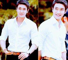 Siwon in white... that smile!!!! aaaah...