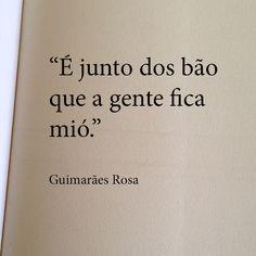 """""""É junto dos bão que a gente fica mió"""" Guimarães Rosa"""