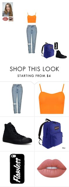 """""""where do i begin"""" by gabby-1606 on Polyvore featuring Topshop, WearAll, Converse, JanSport and Lime Crime"""