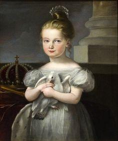 Future queen Doña Isabel II de España, 1830s, anonymous artist.