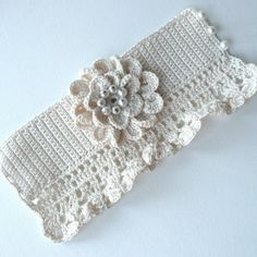 Romantic Vintage Inspired Ivory Cuff by twoknit on Etsy