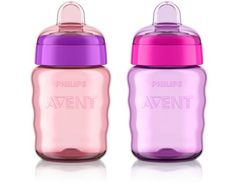Philips Avent My Easy Sippy Cup, 9 Ounce, Pink/Purple, Stage 2 (colors may vary)