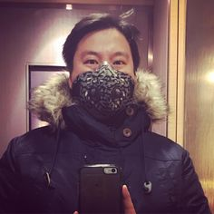 Going out tonight. Better safe than sorry. #respro #mask #ulaanbaatar #mongolia