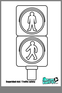 Print Safety Signs Coloring Pages For Traffic Signs Coloring Pages, Educational Resources Children Road Traffic Safety, Safety Road, Coloring Sheets, Coloring Pages, Safety Crafts, Transportation Crafts, People Who Help Us, Preschool Lesson Plans, Traffic Light