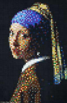 Incredible likeness: Laven's version of the Girl with a Pearl Earringby 17th-century Dutch painter Johannes Vermeer