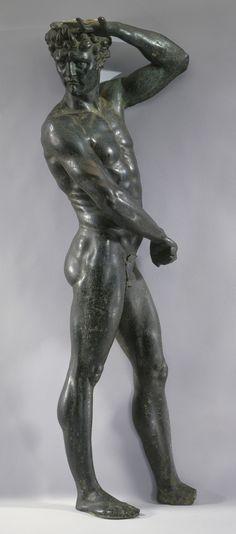 Satyr Creator: Benvenuto Cellini (1500-70) (maker) Creation Date: c. 1545 Materials: Bronze Dimensions: 57.0 x 19.0 x 10.5 cm