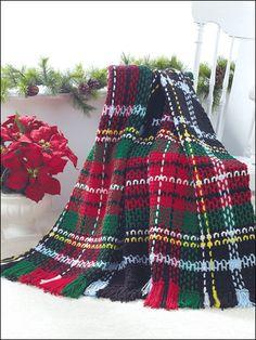 Crochet - Holiday Tartan Afghan - #EAC0685