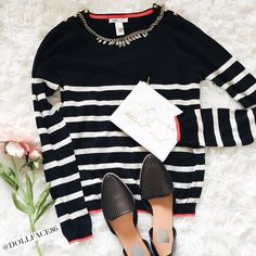 """MNG Black Cream & Red Striped Sweater This sweater is really light weight & stretchy. It's the perfect style sweater for Spring & looks great dressed up or down{actual color of item may vary slightly from pics}  *shoulders:19"""" *chest:17.5"""" *waist:16.5"""" *length:22.5""""/sleeves:29"""" *material/care:material tag cut  *fit:could work for small too/stretchy  *condition:has mended part in back/no rips/stains   20% off bundles of 3/more items No Trades  NO HOLDS No transactions outside of Poshmark  No…"""