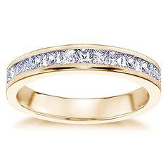 Wedding Band Diamonds All Around Diamond Wedding Bands, Wedding Rings, Princess Cut Diamonds, Bangles, Bracelets, Jewelry Art, Gold Rings, Rose Gold, Engagement Rings