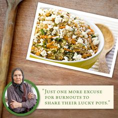 Your potluck doesn't need another side of mashed potatoes. Try this recipe for Quinoa with Feta & Vegetables #Thanksgiving #ATHENOS