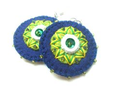 Hey, I found this really awesome Etsy listing at https://www.etsy.com/listing/160494512/green-and-blue-hand-embroidered-felt