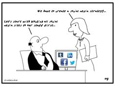 Business Cartoons - Social Media Strategy...