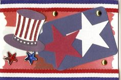 4th of July Swap - Received this 1st ATC from the swap's coordinator Jennifer.  Thanks!